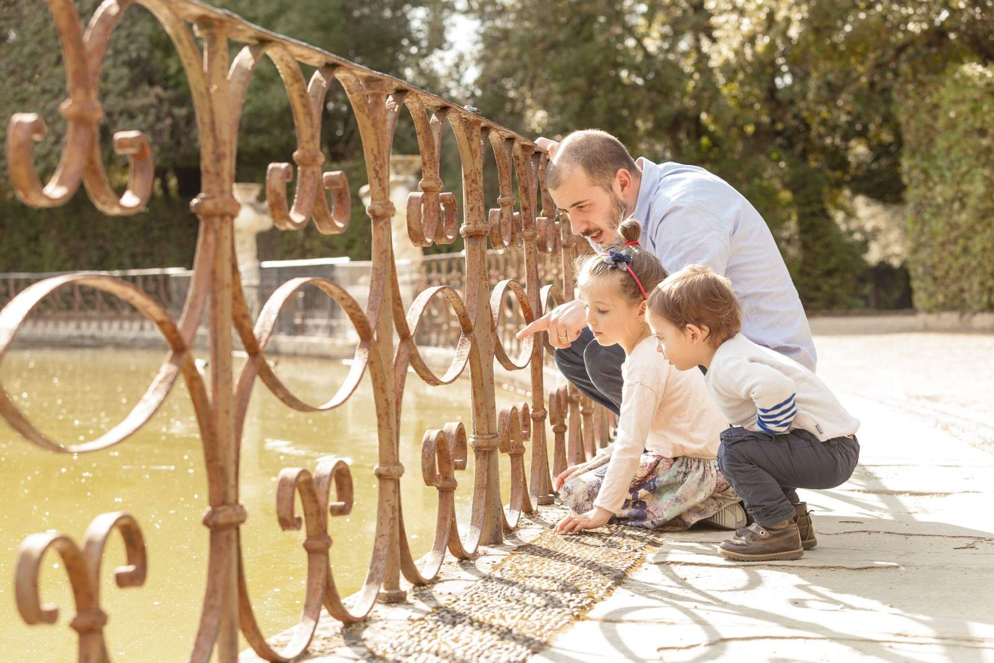 famiglia al Giardino di Boboli - Firenze